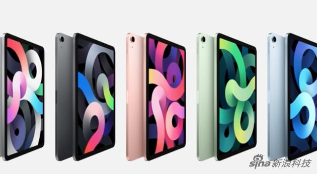 iPad Air用了之前iPad Pro的机身设计,但多种颜色