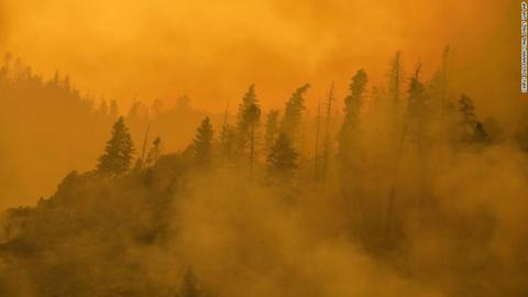 有害烟雾飘过大西洋到达北欧。图:CNN