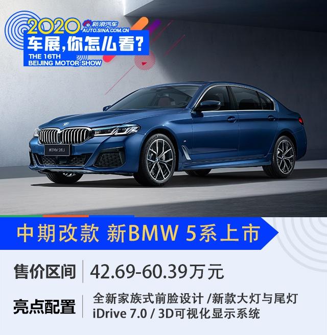 2020北京车展:新BMW 5系售价42.69-60.39万元