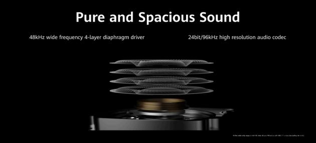 4层40mm复合振膜使发声单元频响范围更宽广