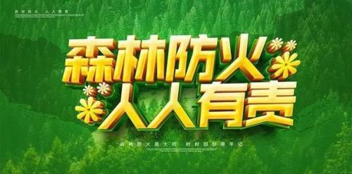 护林防火标识标语60句